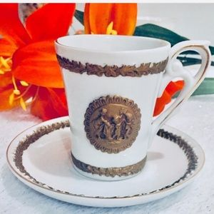 Vtg cup & plate